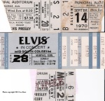 Tickets from the three times I saw Elvis in Mobile and the show in Memphis he never got to play