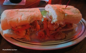 Shrimp po' boy at the original Acme Oyster House. Yeah, you' right it was good!