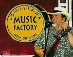 Always a thrill to play a great independent record store still thriving, Louisiana Music Factory, Decatur St., New Orleans