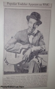 My grandfather loved Jimmie Rodgers. We found this clipping in the family Bible after he died.