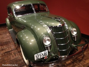 This 1935 Chrysler's grill invokes the image of the famous Chrysler building