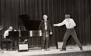 Pascagoula High Auditorium, 1972: Johnny Fleming, Al Parker, Les Kerr (l to r)