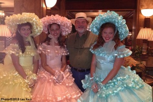 With some of the Dogwood Trail Maids at the Peabody Hotel