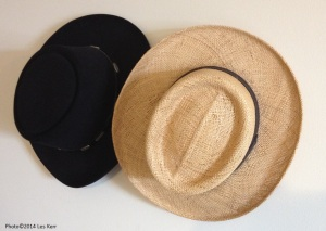 No coffee-filter hats for me. I'll stick with Stetson- dark for winter and straw for summer.