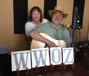With Kathleen Lee at WWOZ