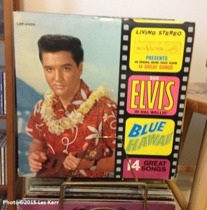 "Click this photo for video of Elvis singing ""Slicin' Sand"" in Blue Hawaii."