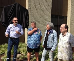 L to r: Malcolm White, Craig Wiseman, Marty Stuart, historian Barry Mazor