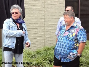 With his usual flair, Marty Stuart talks about the importance of Mississippi to music as Craig Wiseman watches.