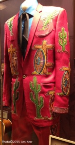 "One of Porter Wagoner's famous ""Nudie"" suits on display at the Ryman Auditorium"