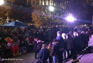 Three choirs celebrated the dedication of Nashville's 2016 Christmas tree.